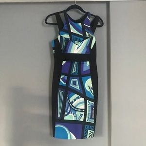 Emilio Pucci - Abstract Fitted Sleeveless Dress